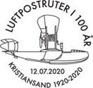 Nytt motivstempel – luftpostruter i 100 år
