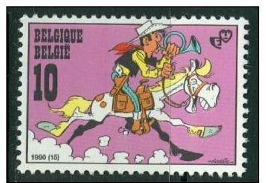 Lucky Luke også på frimerker