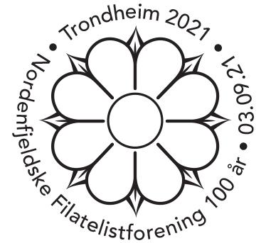 3 stempler til utstillingen i Trondheim