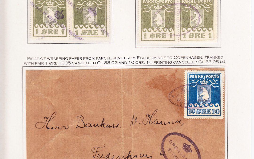 Grønland pakkepostmerkene 1905-1938